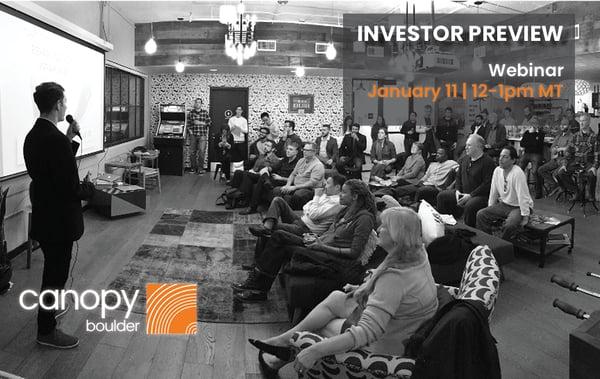 Investor preview_Webinar 2019
